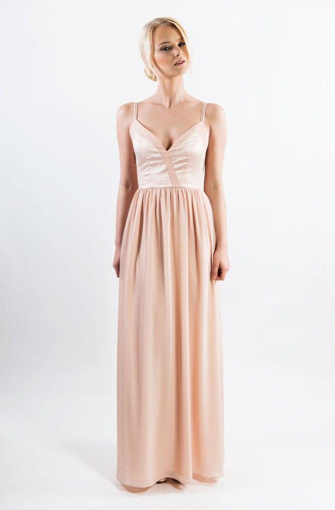 Zetterberg-Kate Long Dress Nude