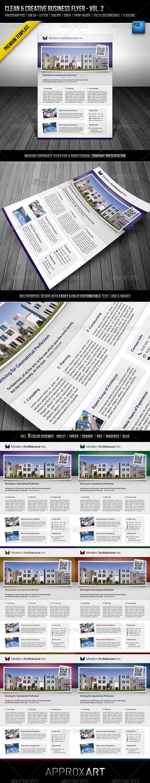 91 best print templates images on pinterest print templates clean creative business flyer vol 2 graphicriver clean creative business flyer