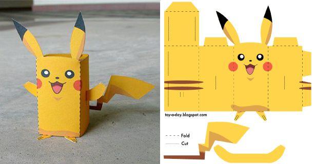un paper toy Pikachu pour tous les fans de Pokémon !  So many cute printable toys