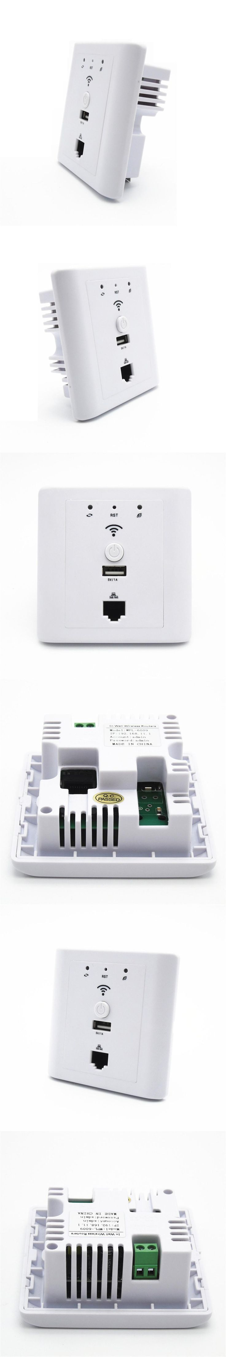 Hotel Socket Wifi in Wall Ap Router Suport Poe Usb Lan Wi-fi Wall-mount Access Point White