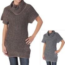 Journee Collection Juniors Cowl Neck Short-sleeve Sweater Dress