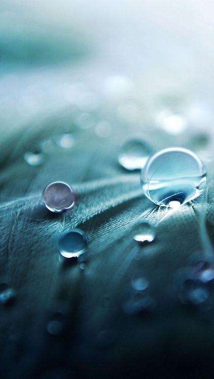 #Blue water drops.