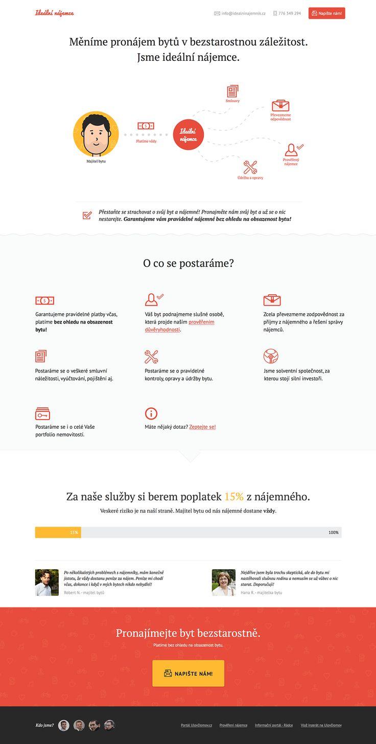 IdealniNajemce.cz on Behance
