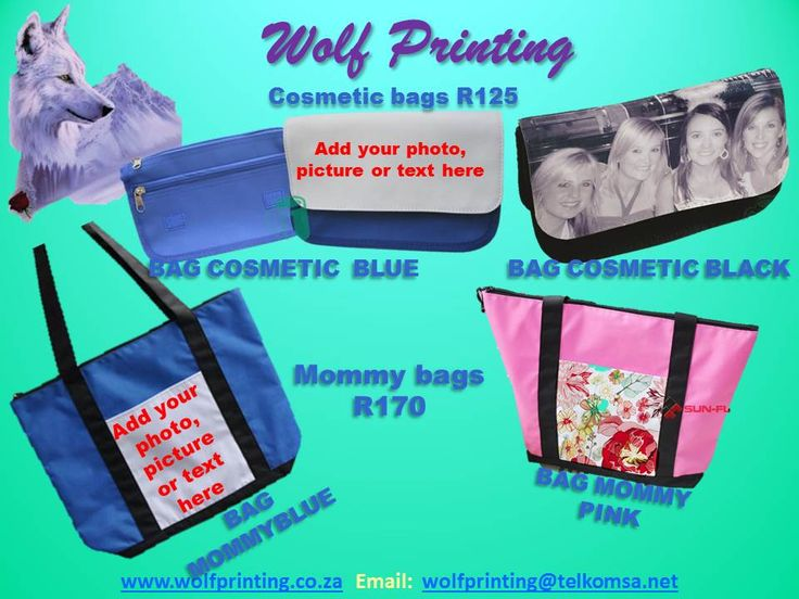 Your own pictures on an assortment of bags
