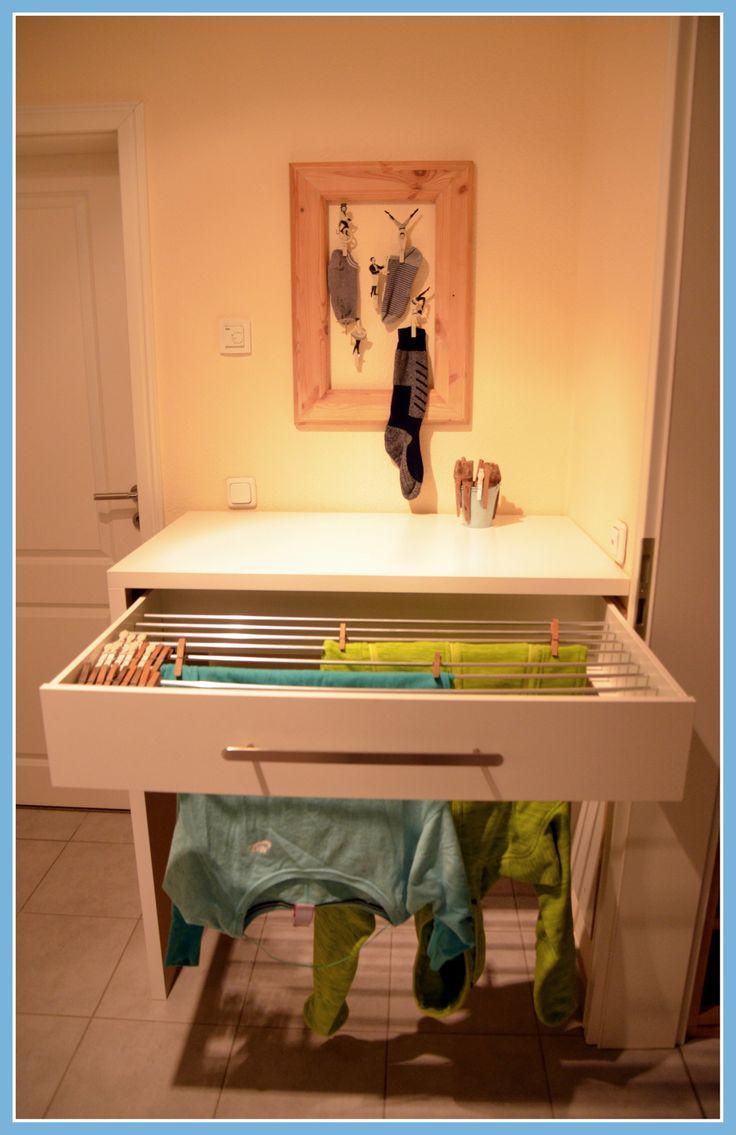 Wäschetrockner, Wäscheständer in IKEA Komplement Schublade