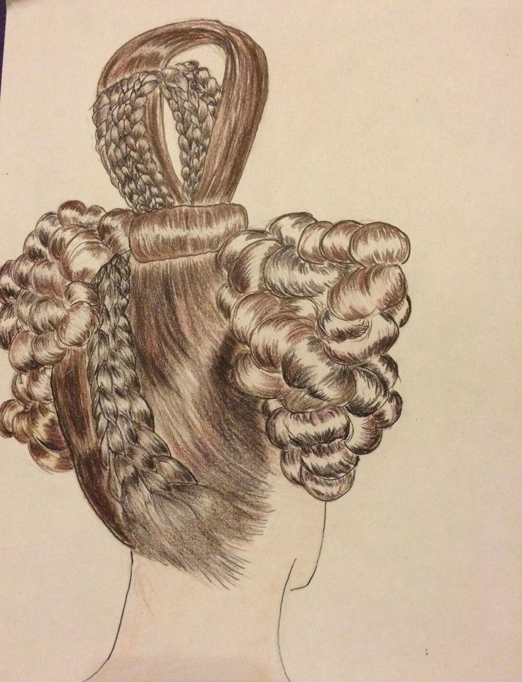 1830s Hairstyles | 1830's Biedermeier Hairstyle (back)