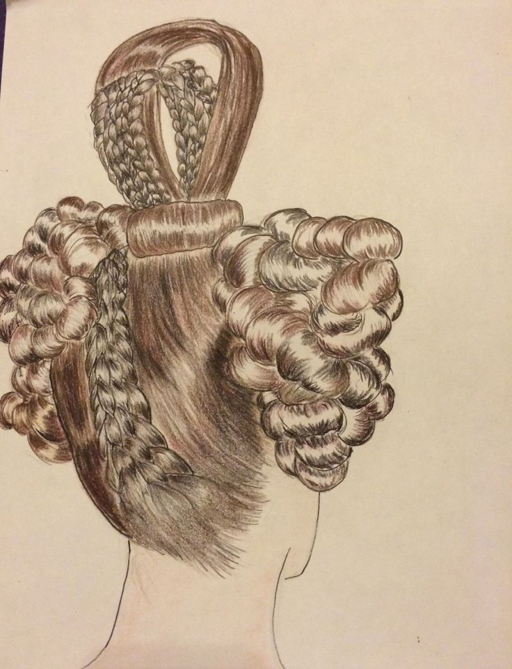 1830s Hairstyles | 1830's Biedermeier Hairstyle (back)