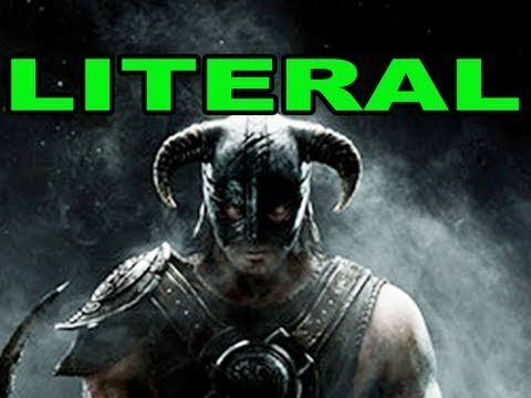 """LITERAL """"Skyrim"""" Trailer-Guy sings what literally happens in video game trailer-so awesome & funny~ tobuscus!"""