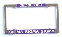 Sigma Sigma Sigma License Plate Frame-Newest  PLEASE