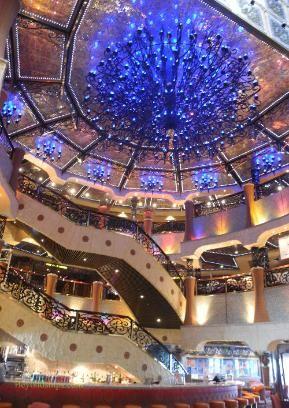 Carnival Liberty atrium