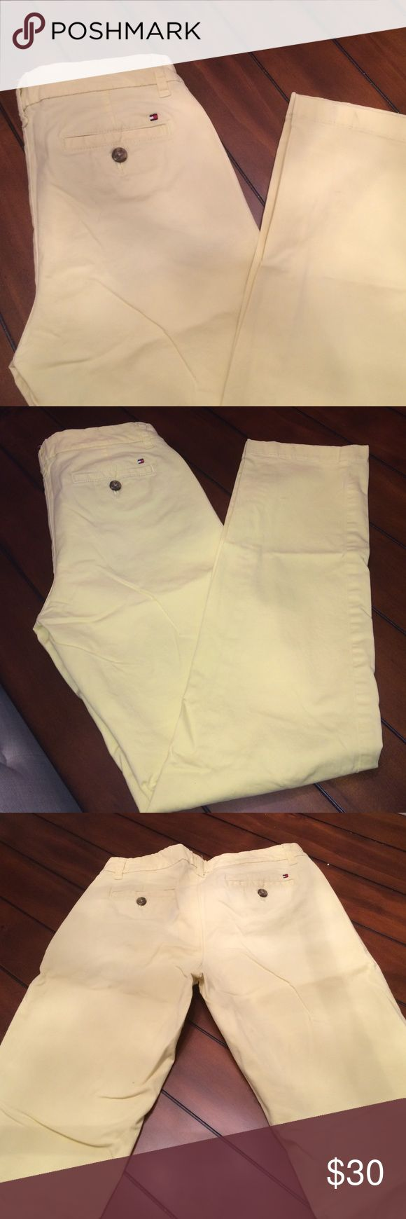 🚛MOVING SALE 🚛 MAKE OFFER🚛 chino pants Yellow chino pants from Tommy Hilfiger only wore once or twice like new yellow Tommy Hilfiger Pants Straight Leg