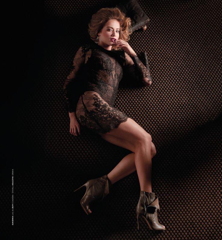 The fabric used in the background is Dekoma LUCIAN. Photoshoot in Stary Browar Poznan. Photos: Agnieszka Szenrok Model: Magda Swiat