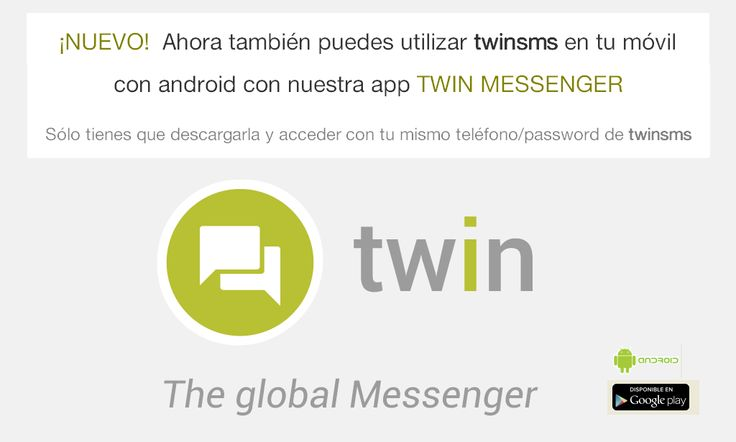 Enviar SMS gratis internacional a cualquier operador. Free sms con twinSMS