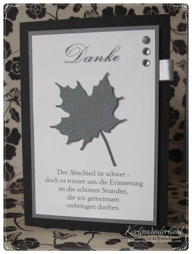 Diese stilvolle Trauer-Danksagung ist mit einem ausgestanzten Blatt verziert und kann mit einem Spruch auf der Vorderseite (individualisierbar nach Ihren Vorstellungen) versehen werden. Der Text...