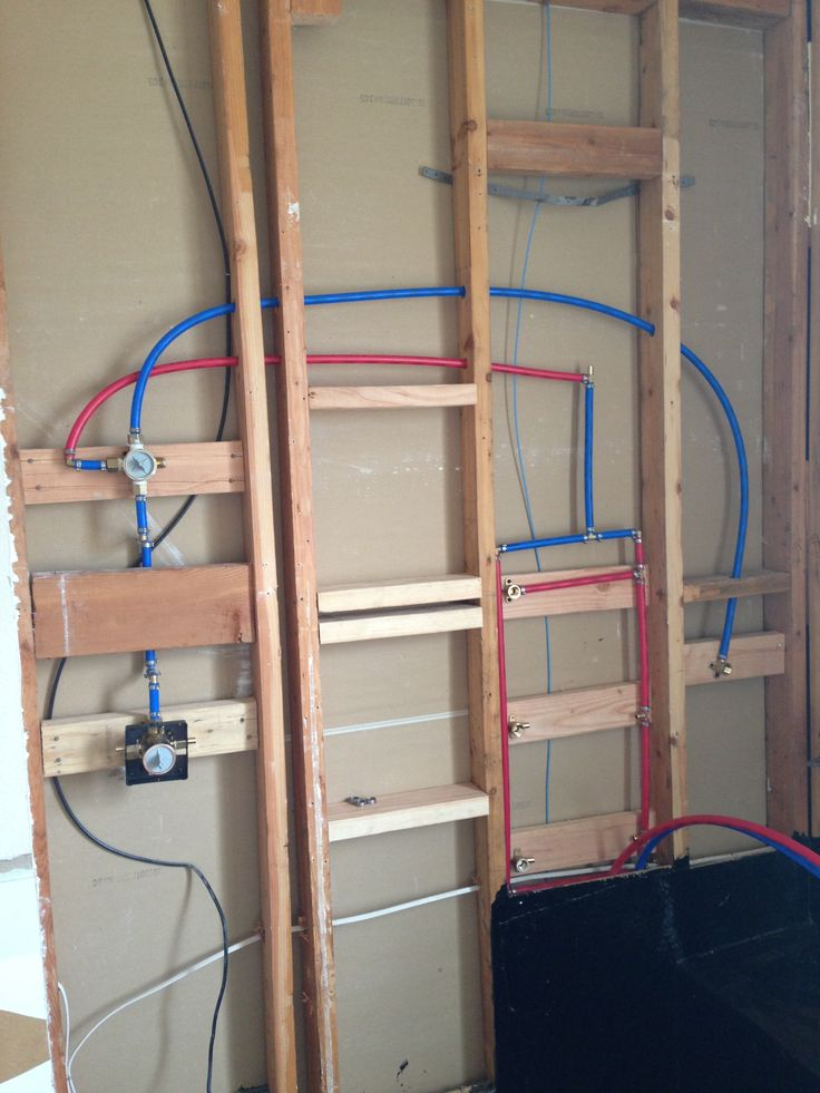 Plumbing the shower with pex moms master bath remodel for Using pex for drain lines