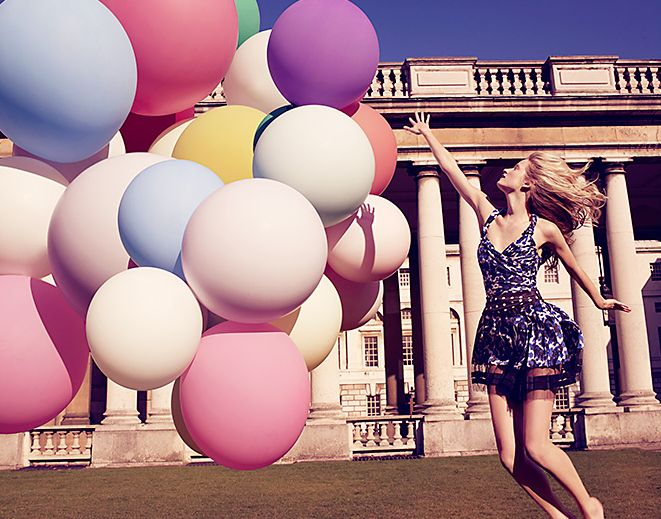 Pastel: Summer Fashion, Birthday, Giant Balloon, Pastel Balloon, Style, Pastel Colour, Color, Photos Shoots, Photography Ideas