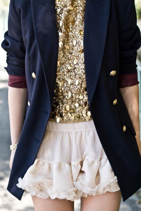 flirty with a sensible blazer... nice!
