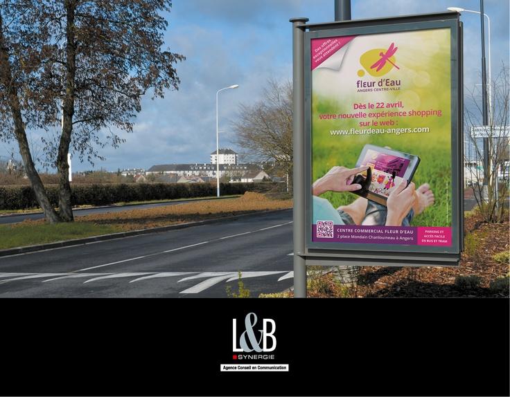 CENTRE COMMERCIAL FLEUR D'EAU - Campagne de lancement du site internet : annonce presse, Cart'Com, campagne radio...