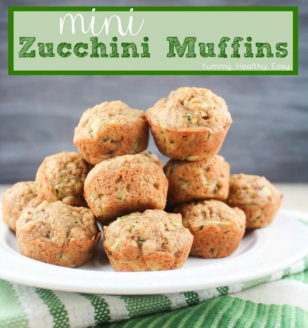 Mini Zucchini Muffins Yummy. Healthy. Easy