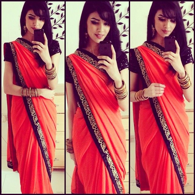 I absolutely love this saree thank you sooo much for this @allurestyles think orange is my new fave! thank you to all the lovely people I met at the wedding if you're reading this I really appreciate your compliments! Don't forget to follow @allurestyles sarees are amazing Ma'Sha'Allah goodnight instanation