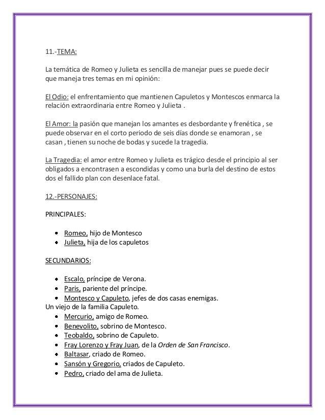 Analisis Literario Romeo Y Julieta El Amor Es El Amor La Esperanza
