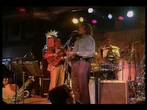 "B.B. King  Albert Collins playing ""Stormy Monday"" in 1993 at B.B.King's Blues Club - Beale Street , Memphis"