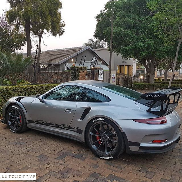 Every 911 should have a big wing.*- Porsche 911 GT3-RS. ⚬ Model: Porsche 911 GT3 RS (991). Price: R3.0+ Mil 0-100: 3.3s Top Speed: 311KM/H Horse Power: 493BHP Power Output: 368KW Peak Torque: 458NM Weight: 1,420KG Engine: 4.0L Flat 6. ⚬ #porsche #porsche911 #911 #porsche911gt3 #porsche911gt3rs #german #germany #supercar #supercars #exotic #exoticcars #luxurylifestyle #luxury #southafrica #supercarspec #supercarsdaily700 #CarsWithoutLimits #autogespot #carporn #cars #richlife #money…