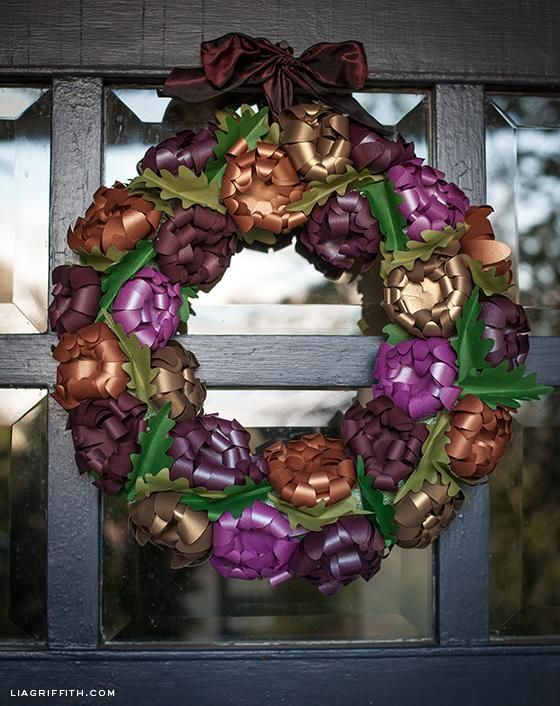 DIY Autumn : DIY Paper Flower Mum Wreath for Fall