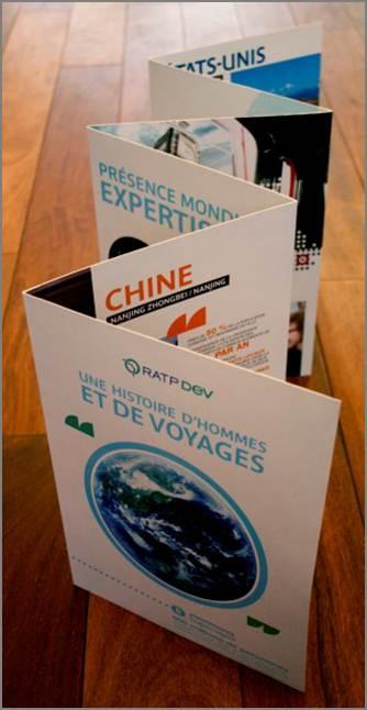Supports de communication print pour les forces de ventes de RATP Dev
