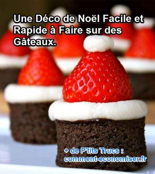 Une Déco de Noël Facile et Rapide à Faire sur des Gâteaux.