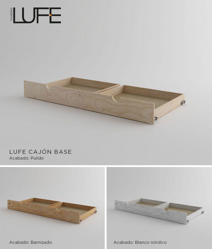 Cajón base LUFE en tres acabados: natural, barnizado y blanco nórdico