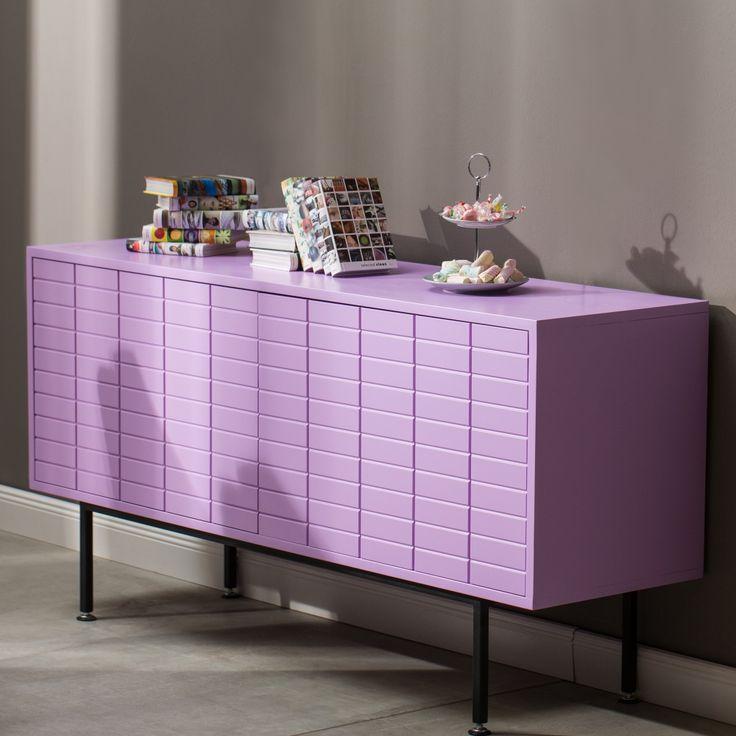 Matrix retro dvířková komoda ve fialové barvě / cabinet