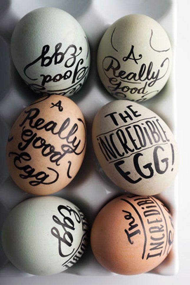 Sharpie, meet egg.