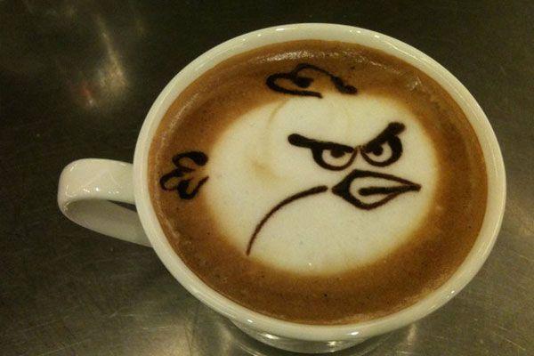 Angry Birds coffee: Latte Art, Coffeeart, Coff Art, Mornings Coff, Coffee Art, Angry Birds, Drinks, Latteart, Birds Coff