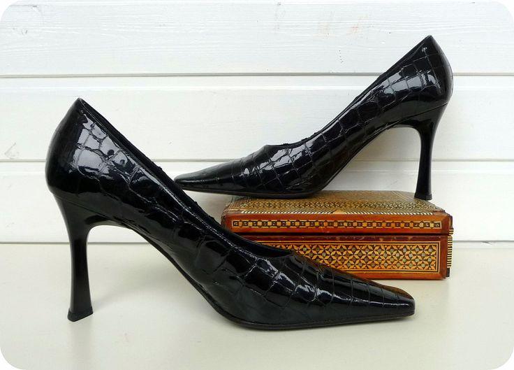 LORIBLU ITALY Designer Leder Pumps Schuhe Gr: 40,5 High Heels Kroko Business  | Kleidung & Accessoires, Damenschuhe, Pumps | eBay!