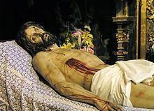 Cristo yacente (1634), de Gregorio Fernández, Iglesia de San Miguel y San Julián, Valladolid.