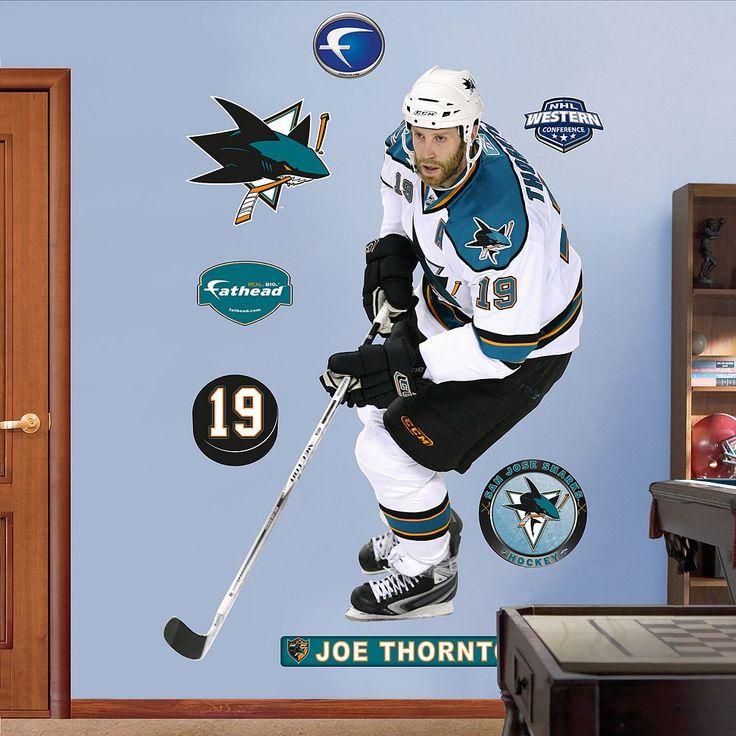Fathead San Jose Sharks Joe Thornton Wall Decals, Multicolor