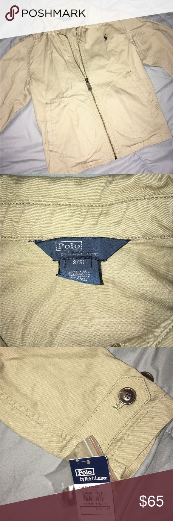 Kids Polo Jacket Brand new Khaki kids polo coat size Small (8). This jacket can be worn by either boy or girl! Polo by Ralph Lauren Jackets & Coats