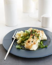 Thyme-Crusted Buttery Halibut with Parsley Sauce Recipe on Food & Wine