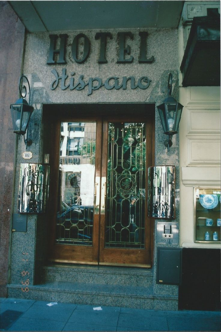 """In tune with my recent run of ill fortune, the Gran Hotel Hispano - which announces itself brightly enough with two highly polished brass plaques, one to each side of the doorway - is full. This is where he (my grandfather) had a front room, fixed up with carpets bought by himself."" (Chapter 7, November 5, 1999, TOMORROW IS ANOTHER DAY, page 99-100)"