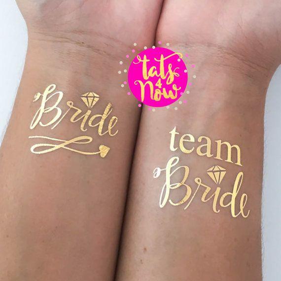 GOLD-Skript Team Braut Bachelorette Partei bevorzugen von Tats4now