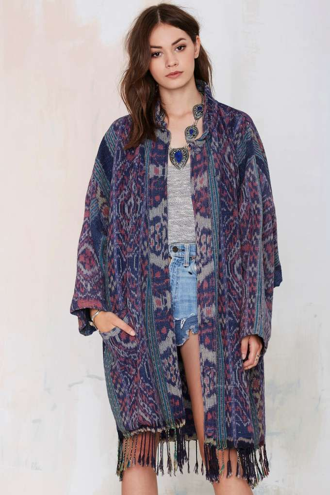 Vintage Carolina Moon Southwestern Duster Coat