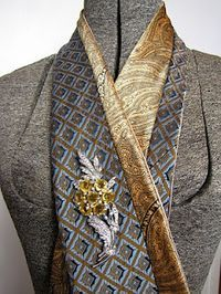 Turn Old Neck Ties Into Scarfs : Red Hen Studios by Julie Dowd