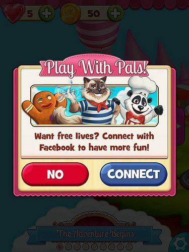 Cookie Jam Login: screenshots, UI