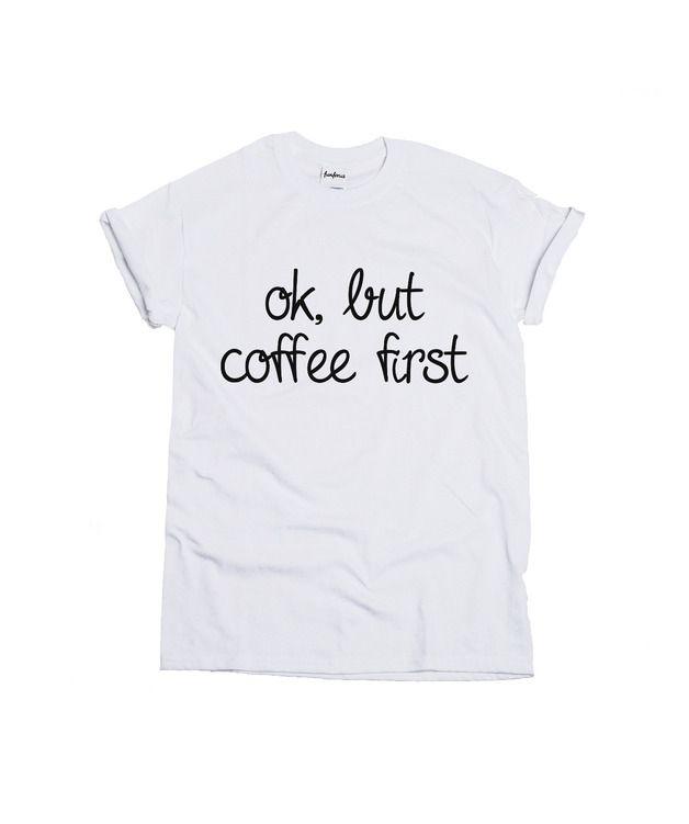 Koszulka Coffee First - FUNFORUS - Koszulki z nadrukiem