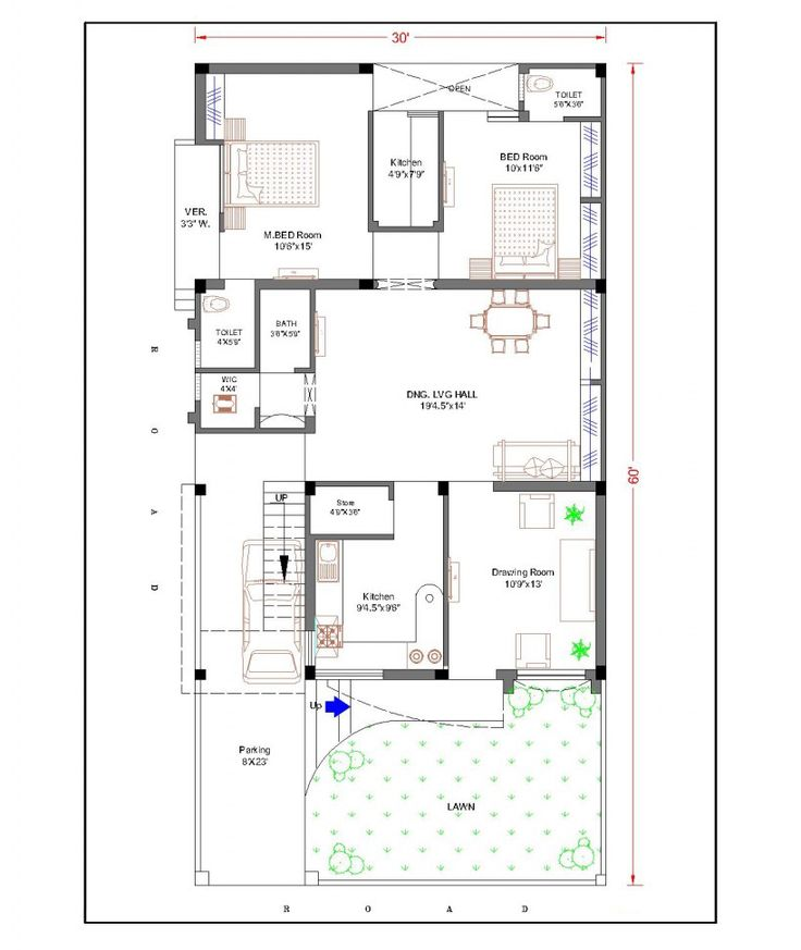 duplex house plans for 30x60 site google search - Plan Of House