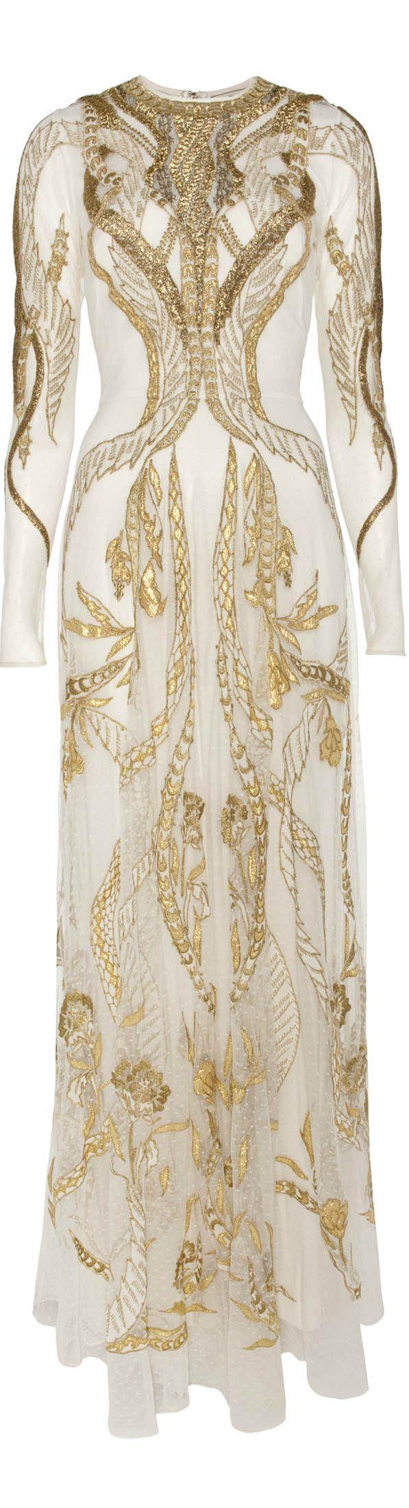 Temperley London ● 2013, Gold Evening Gown / https://www.pinterest.com/pin/138837600987171351/