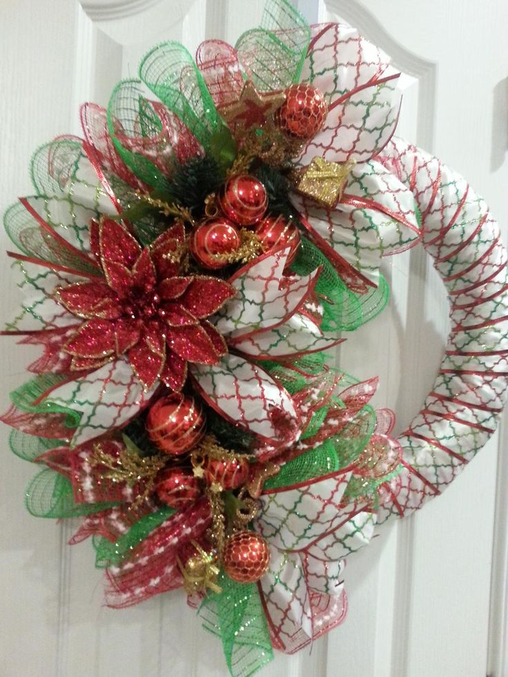 For Sale: Angels Heavenly Crafts on Facebook Handmade Ribbon & Deco Mesh Wreath - Central Cha