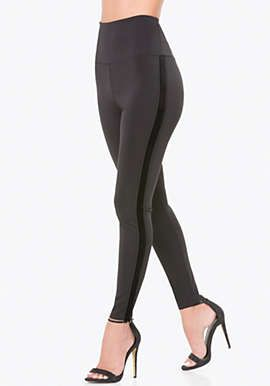 Velvet Striped Tux Leggings