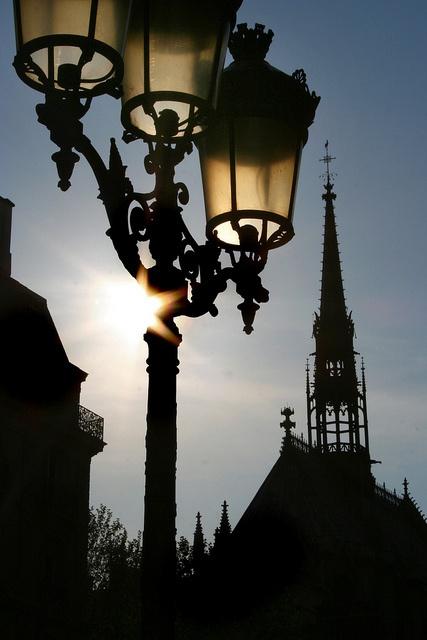 Paris, Ile de la Cité, lampadaire by Calinore, via Flickr